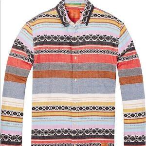 Scotch and soda jacquard pattern shirt